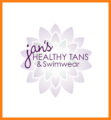 Jan's Healthy Tans and Swimwear logo