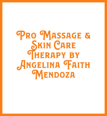 Pro Massage and Skin Care Therapy by Angelina Faith Mendoza logo